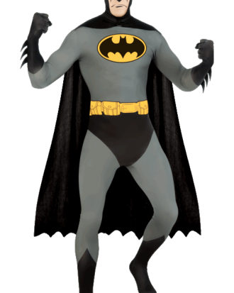 Batman Second Skin Maskeraddräkt